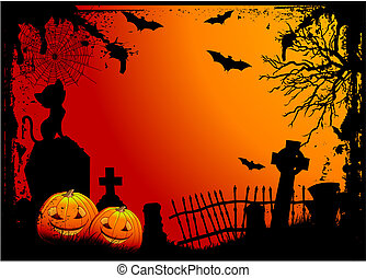 halloween, cimitero