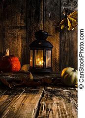 halloween, citrouille, morose, image, à, lanterne