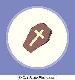 halloween coffin vector icon sign symbol