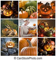 halloween, collage