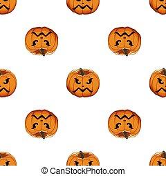 halloween, coloreado, ilustración, grande, patrón, tema
