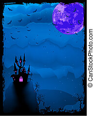 Halloween composition popular holiday. EPS 8