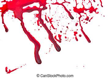 halloween, concept, :, bloed, het droppelen