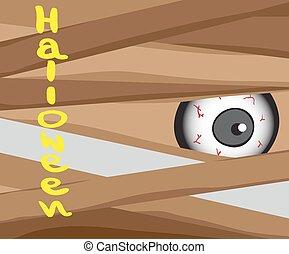 Halloween concept from zombie, cartoon vector