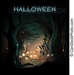 halloween, conception, gabarit, fond