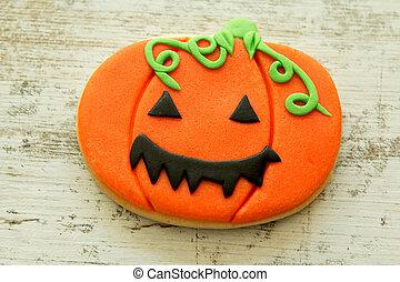 Halloween cookie shaped pumpkin