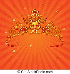 halloween, corona, principessa