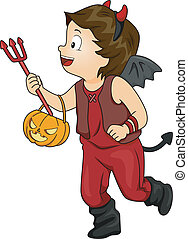 Halloween Costume Devil Boy