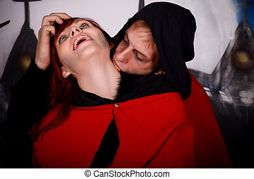 Halloween couple vampire - Halloween couple horror character...