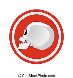 halloween, cráneo, vector