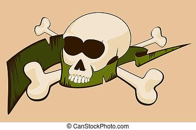halloween, crâne humain