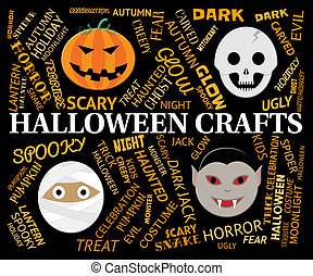 Halloween Crafts Means Creative Artwork And Designs