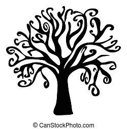 halloween creepy scary bare tree vector symbol icon design....