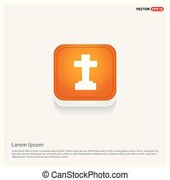 halloween, croix, tombe, icône