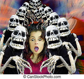 Halloween crowd Computer generated image