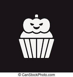 halloween cupcake icon