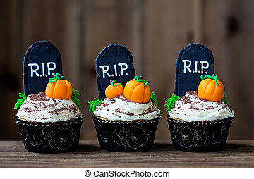 Halloween cupcakes - Cupcakes with a Halloween theme