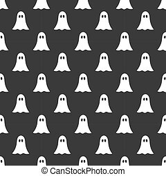 Halloween cute ghosts pattern