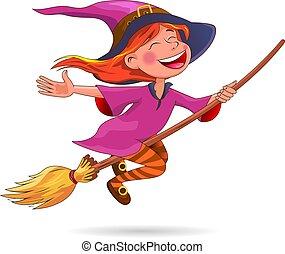 Halloween cute little witch