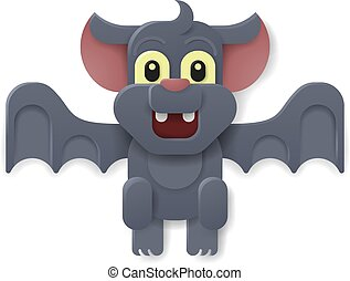 Halloween Cute Vampire Bat Cartoon