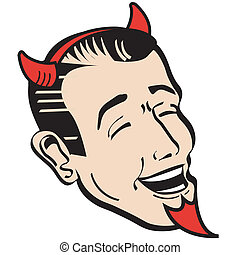 Halloween dad in devil costume