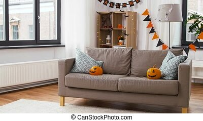 halloween, daheim, dekorationen, wagenheber-o-laternen