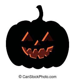 halloween dark pumpkin icon on white background
