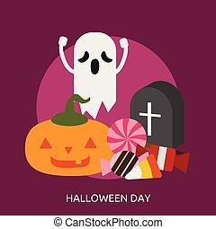 Halloween Day Conceptual illustration Design
