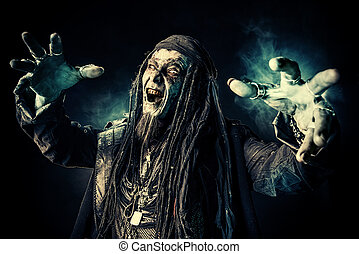 halloween dead pirate - Horror novel character. Aggressive...
