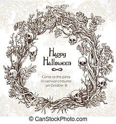 Halloween decorative wreath