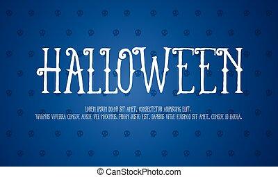 halloween, design, bakgrund, kollektion