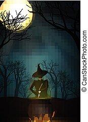 halloween, design, bakgrund