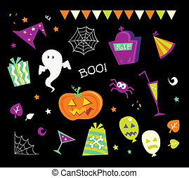 Halloween design elements and icons I