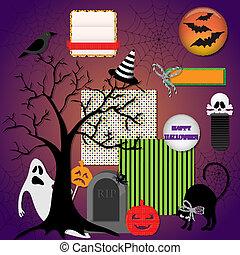 Halloween design elements