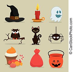 Halloween design. - Halloween party design, vector...
