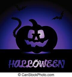 Halloween design with creative design vector