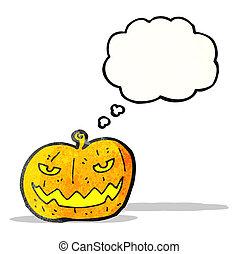 halloween, dessin animé, citrouille