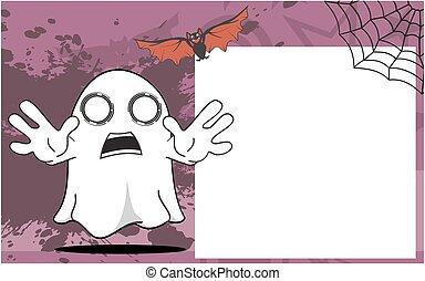 halloween, dessin animé, fantôme, frame3