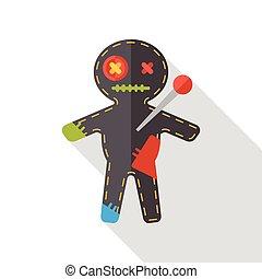 Halloween devil monster flat icon
