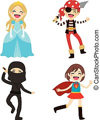 Halloween Disguised Children - Cute lovely group of little...
