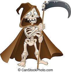 halloween, divertente, morte