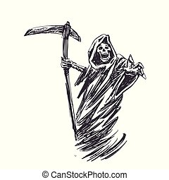 halloween, dood, zeis, black
