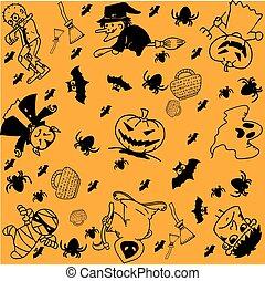 Halloween doodle art