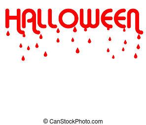 Halloween dripping blood