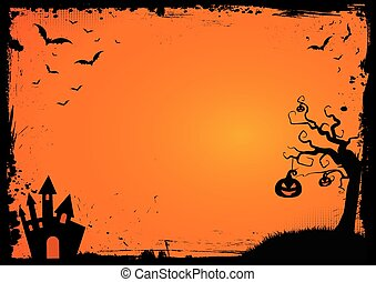 Decorative halloween border/background. A black page... stock ...