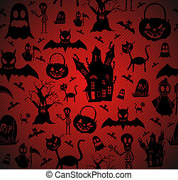 Halloween elements seamless pattern background EPS10 file.