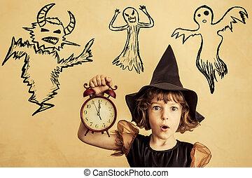 halloween, enfant