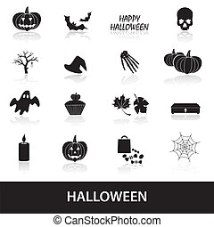 halloween, ensemble, eps10, icônes