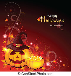 halloween, -, eps, fond, 10