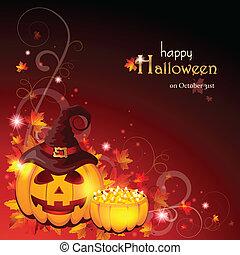 halloween, -, eps, hintergrund, 10